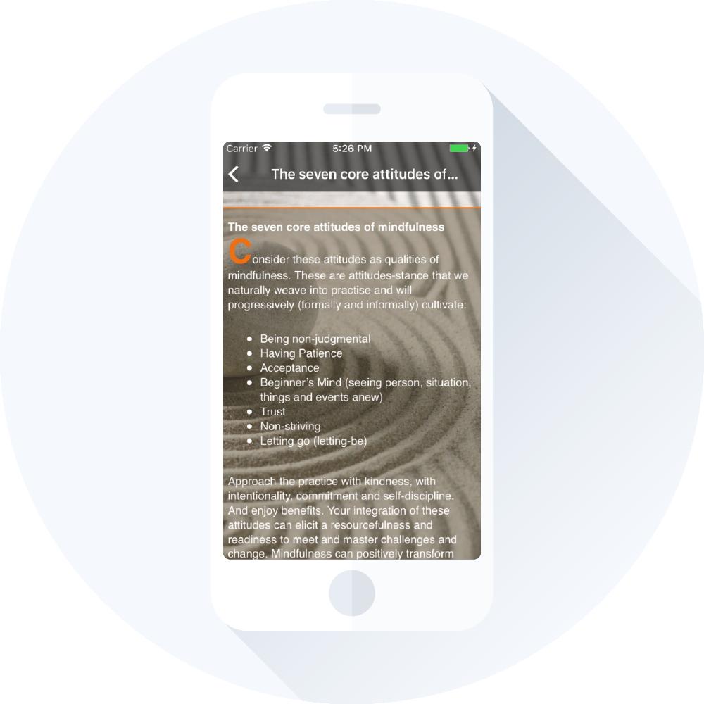 iMindfulness introduktion til app