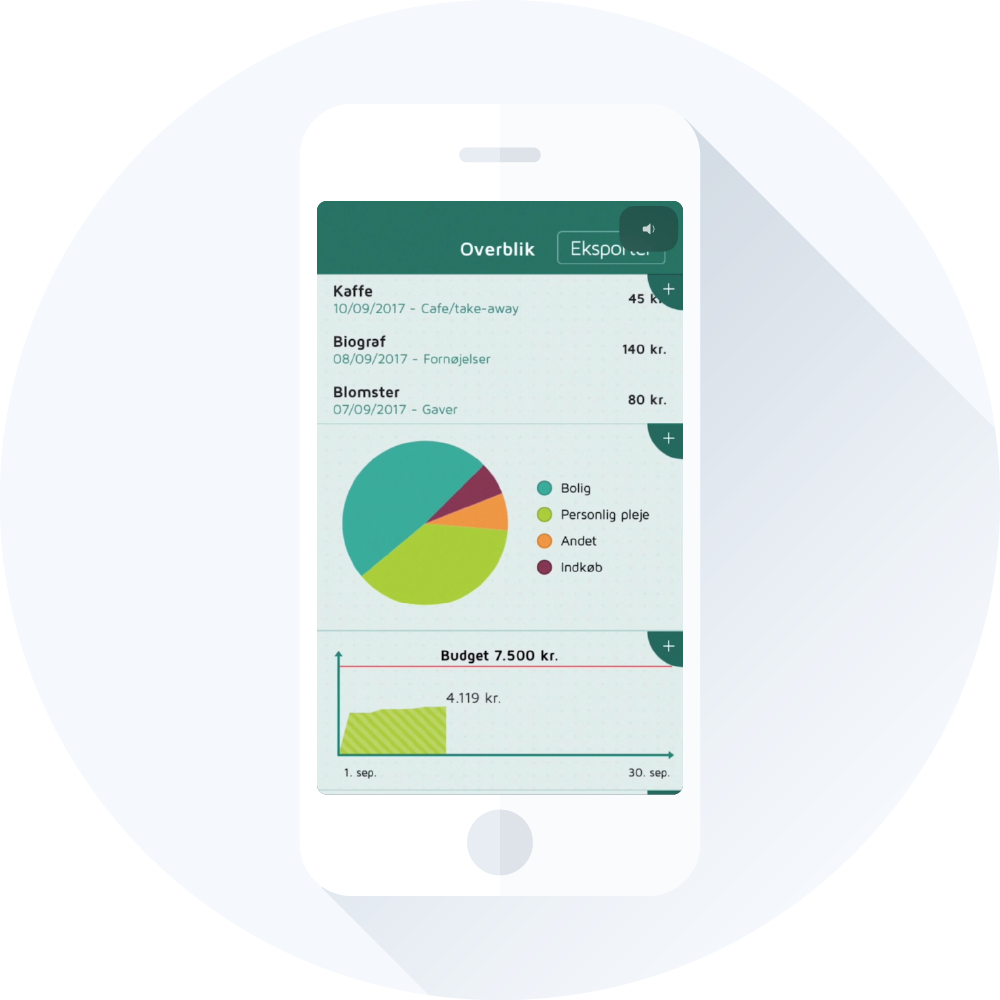 Lommebudget app overblik over dine personlige økonomi