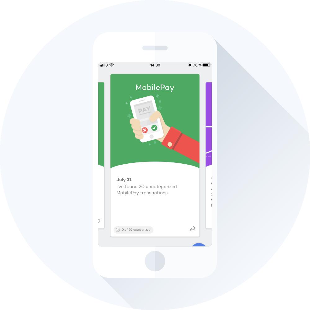 Overblik med mobilepay i Spiir app
