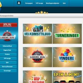 Kampagneside hos EU Casino
