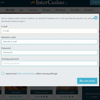 intercasino sign up