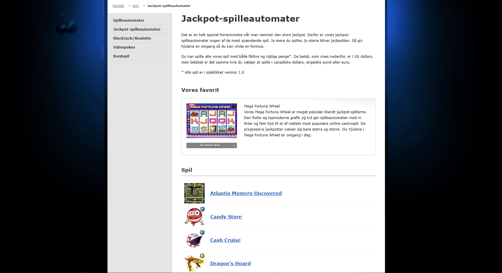 Party Casino Jackpot Spilleautomater