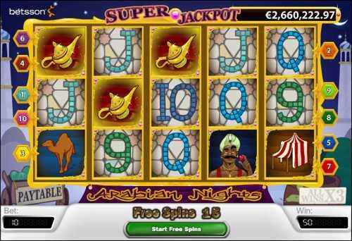 Arabian Nights Slots - spil Arabian Nights Slots gratis.