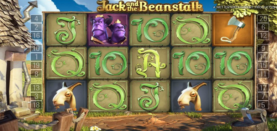 Jack and the Beanstalk spilleautomat hjul og rækker