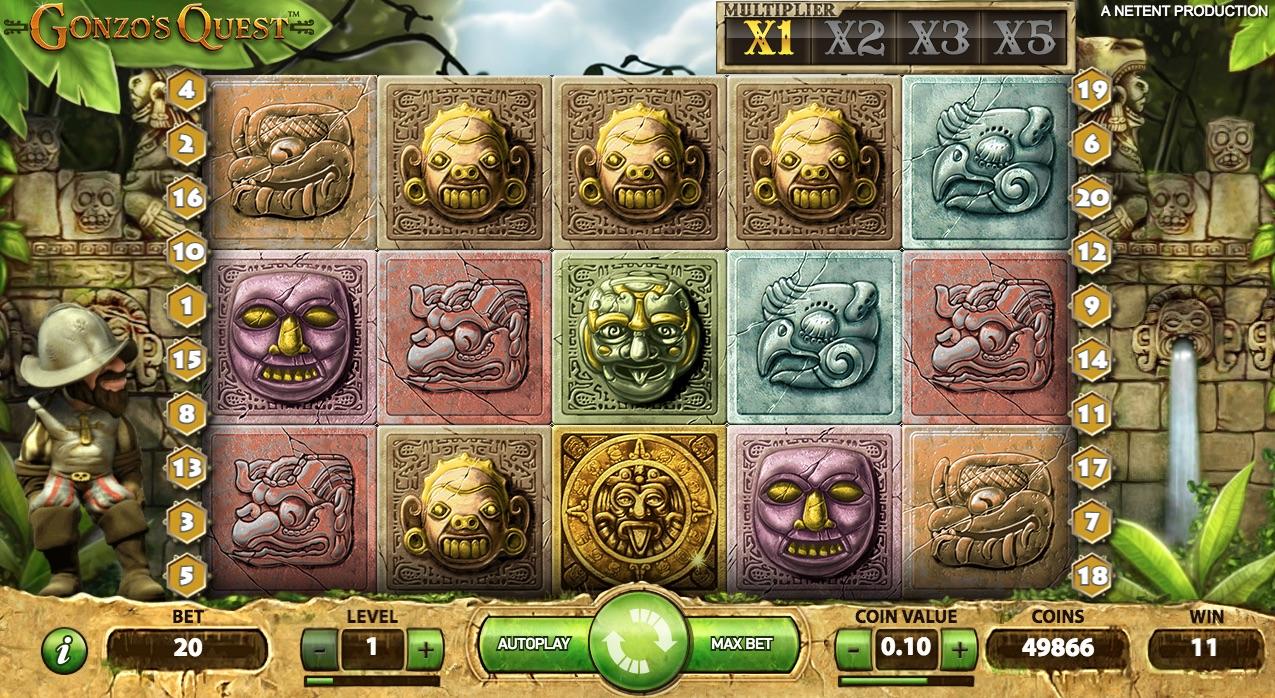 Gonzo's Quest symboler