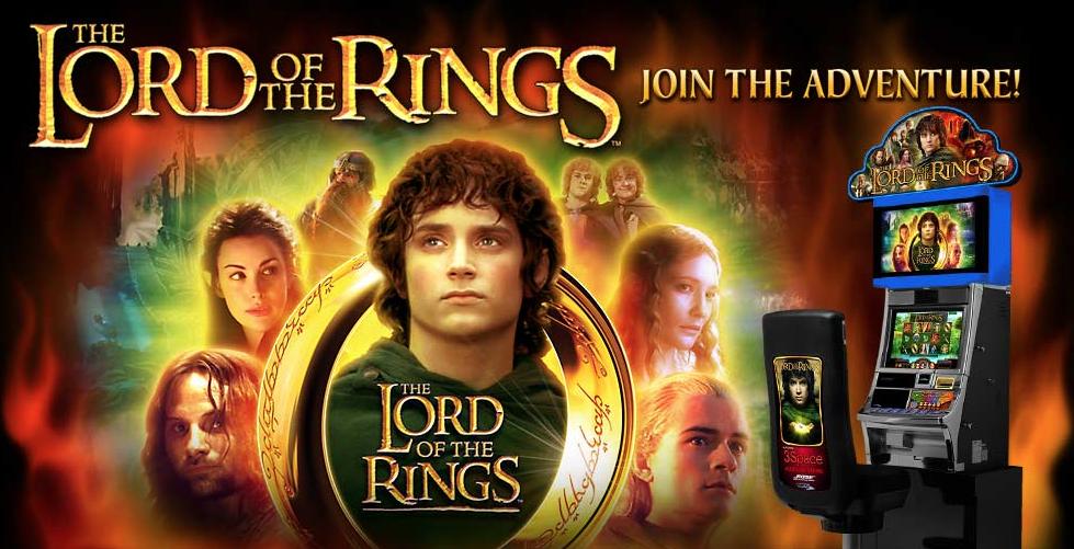 Spil med Frodo, Legolas, Aragorn og the andre karakterer i Lord of the Rings spilleautomat