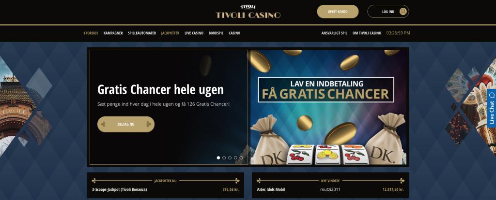 Tivoli Casino velkomstbonus og andre tilbud