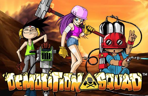 Destruer med teamet i Demolition Squad spilleautomat