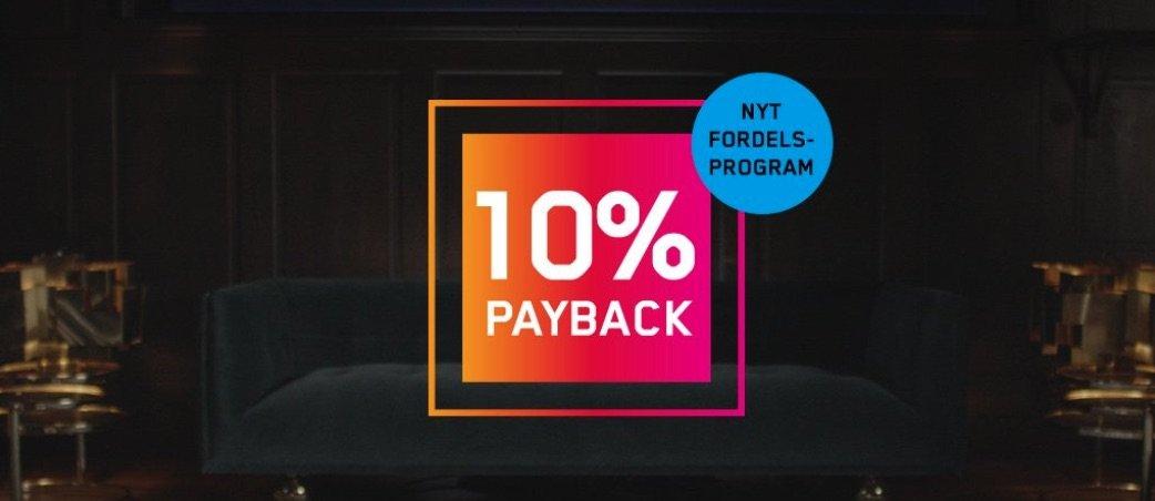 Bonusklub banner med 10% payback
