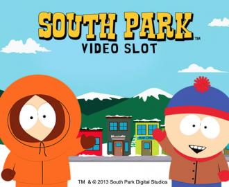 Spil med Cartman, Kenny, Stan and Kyle i South Park spilleautomaten