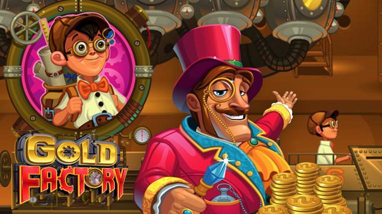 Manden bag Gold Factory byder dig velkommen til spilleautomaten