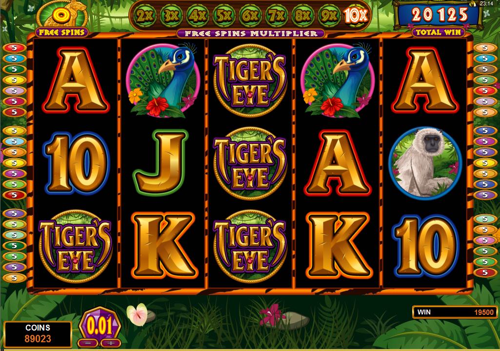 Tigers Eye slot fra Microgaming - spil nu gratis