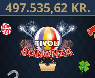 Kæmpe gevinst vundet på Tivoli Casinos Tivoli Bonanza i januar