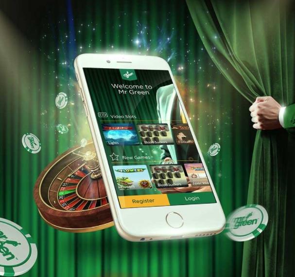 Mr Green prisbelønnet mobil casino til din browser
