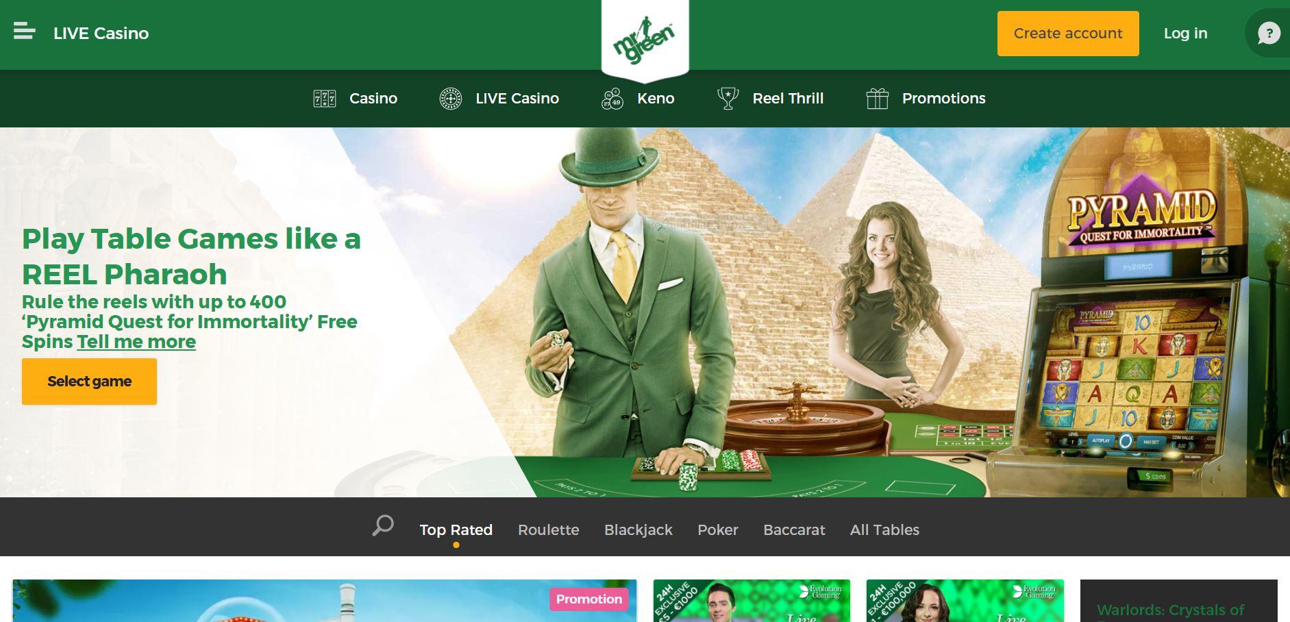 Anmeldelse af Mr Green Casino Danmark