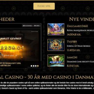 Royal Casino Nyheder og Nye Vindere