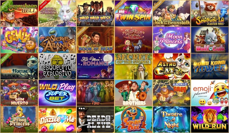 Udvalg af spilleautomater hos Royal Casino