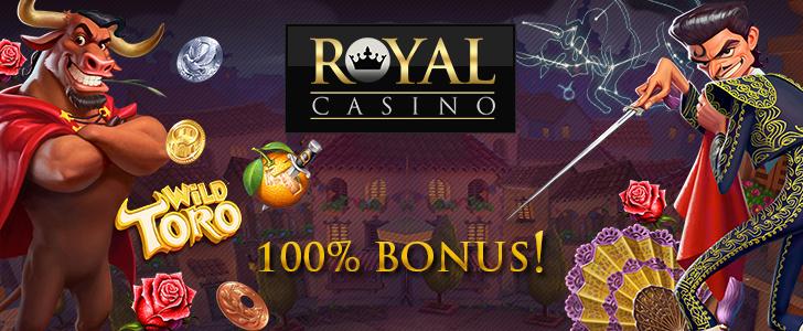 Få 1.000 kr. Bonus til Wild Toro på Royal Casino i dag