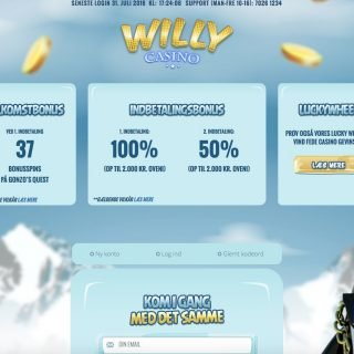 Willy Casino forside