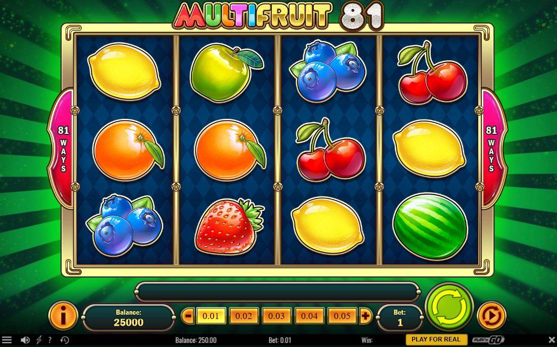 Ny frugtautomat Multifruit 81 med udvidende wild symboler og multiplikatorer