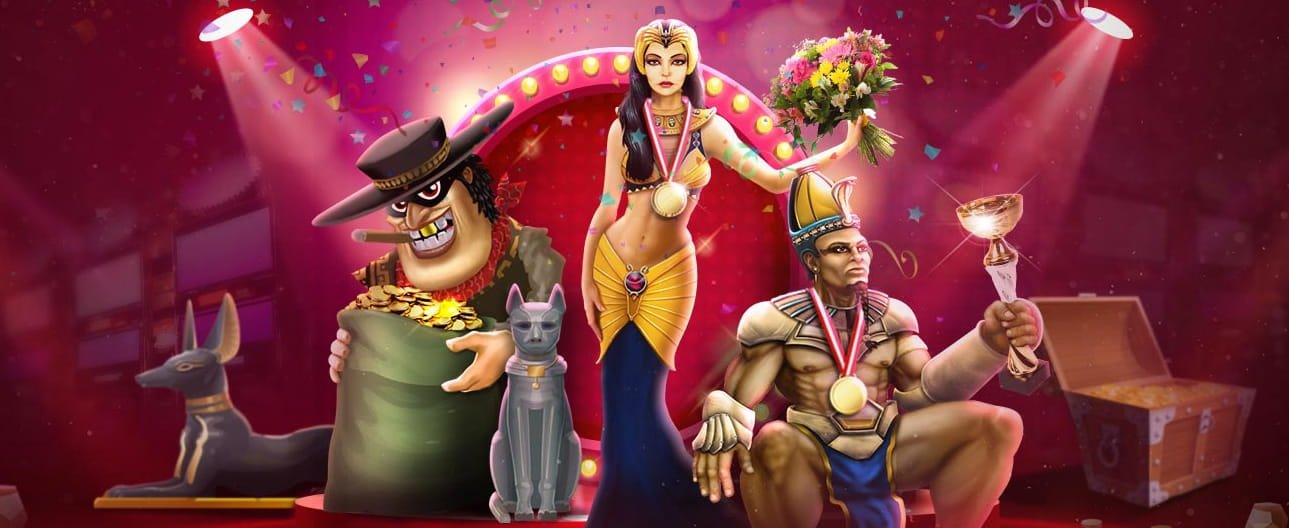 Karakterer fra spilleautomater hos Next Casino