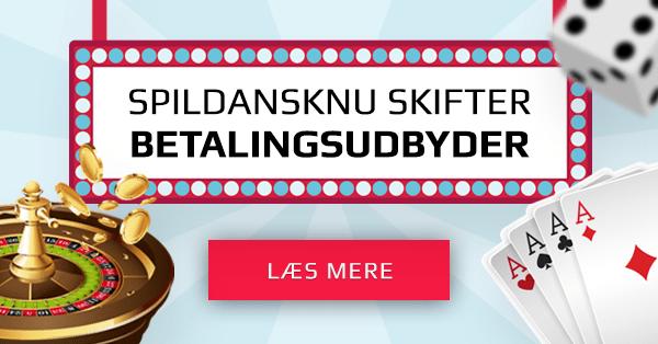Dansk casino skifter betalingsudbyder og giver bonus til alle