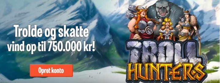vind gevister for op til 750000 kroner med Troll Hunters hos LeoVegas