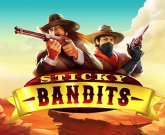 Spil med cowboys i ørkenen på Sticky Bandits spilleautomaten