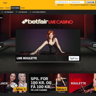 Betfair live casino forside