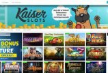 Kaiser Slots startside screenshot