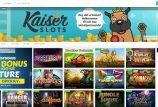 Kaiser Slots startside screenshot