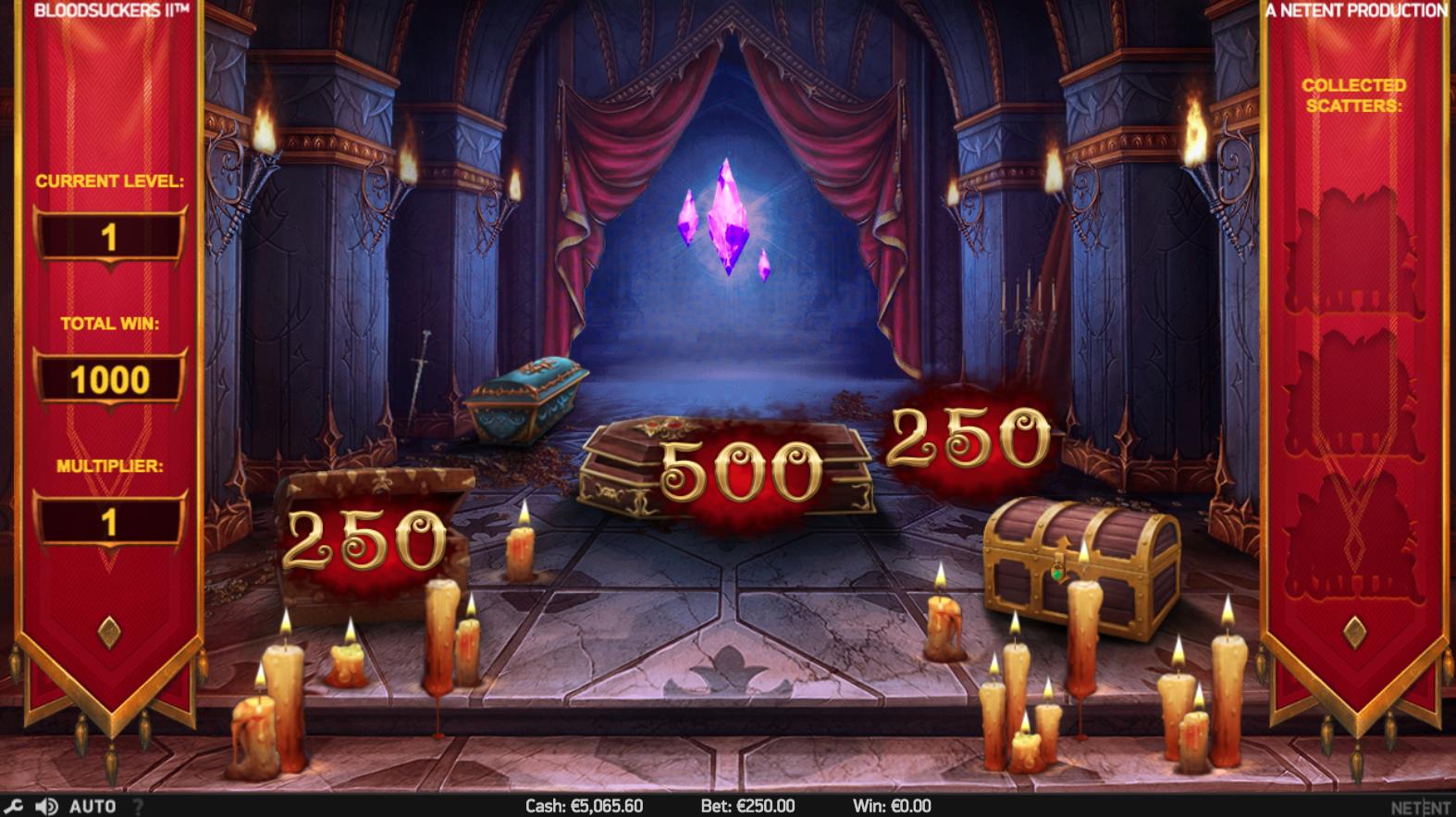 Blood Suckers II bonusrunde Hidden Treasure bonus