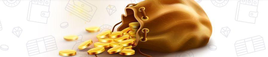 Penge pose med casino bonus penge