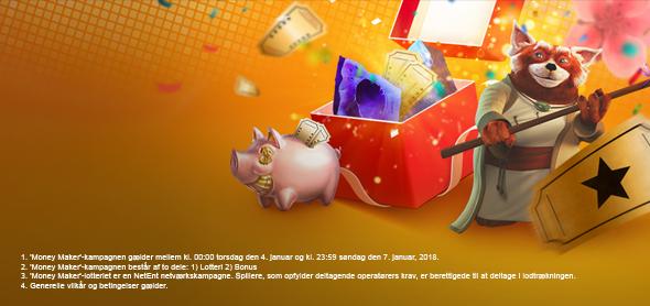 Vind din del af EUR 10.005 i nytårs Money Maker lodtrækning!