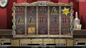Dead or Alive spilleautomat med Free Spins bonus feature