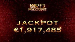 Joker Millions jackpot af Yggdrasil