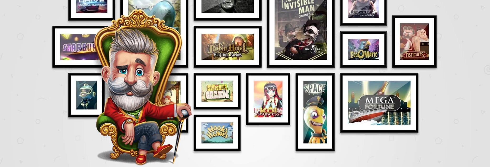 Lucky Louis udvalg af spilleautomater