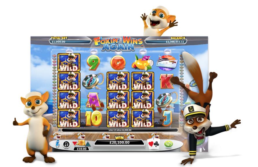 NextGen Gaming Foxin Wins spilleautomat promo grafik