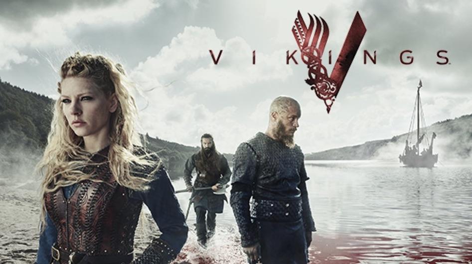 Vikings spilleautomat vikinger fra tv serie promo banner fra hulu