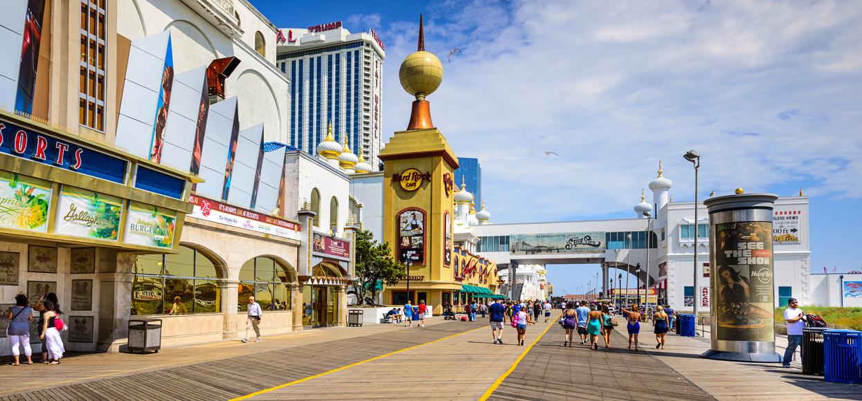 De absolut bedste spilledestinationer i verden Atlantic City New Jersey