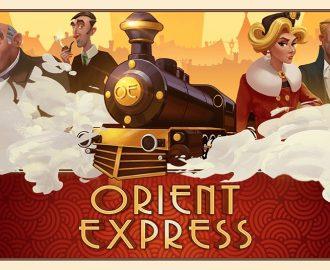 Orient Express spilleautomat logo med tog og symboler