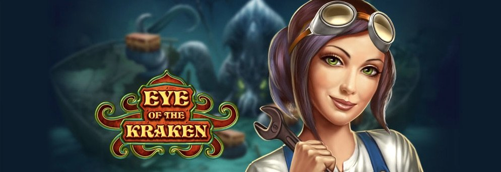Eye of the Kraken banner med kvindelig karakter
