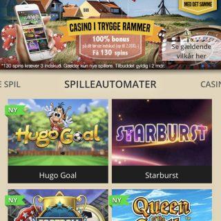 Lanadas casino på mobilen