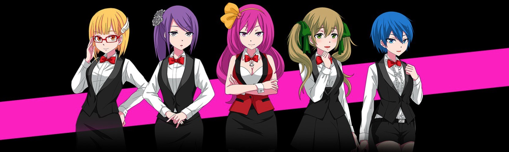 Lucky Niki Casino team på fem piger