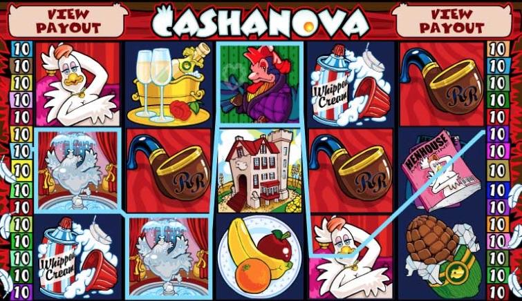 Cashanova spilleautomat symboler