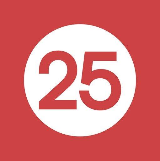 Rød25 rødt logo