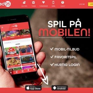Rød25 app til mobilen