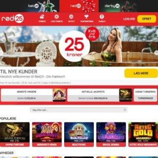 Rød 25 Casino forside
