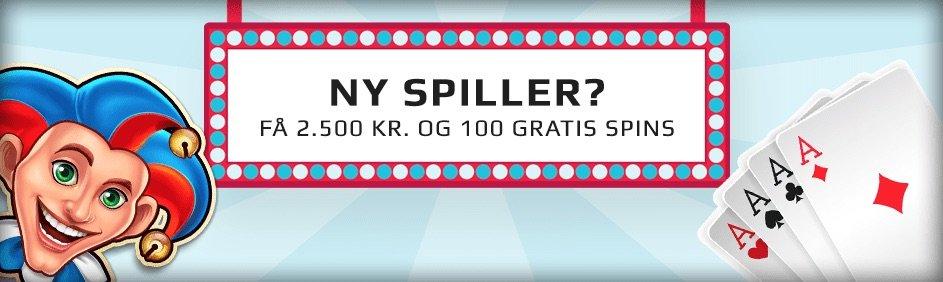 SpilDanskNu joker og spillekort præsenterer velkomstbonus
