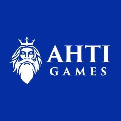 AHTI Games Casino blåt logo